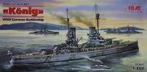 Model WWI German Battleship Konig ICM S001