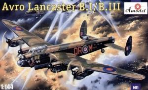 Model bombowca Avro Lancaster B.I/B.III Amodel 1411