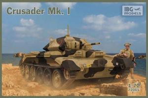 Model brytyjskiego czołgu Crusader Mk.I IBG 72065