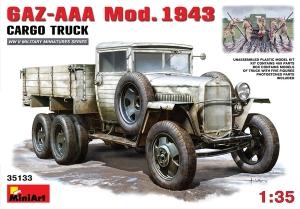 Model ciężarówki Gaz-AAA mod.1943 Miniart 35133