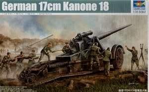 Model ciężkiego działa 170mm Kannone 18 Trumpeter 02313