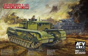 Model czołgu Churchill 3 inch CWT Gun AFV 35253