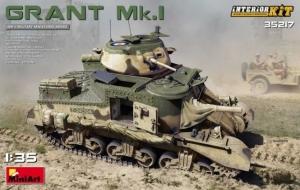 Model czołgu Grant Mk.I z wnętrzem MiniArt 35217