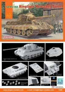 Model czołgu King Tiger Henschel 1:72 Dragon 7558