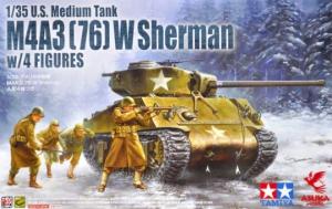 Model czołgu M4A3 (76) W Sherman z 4 figurkami Asuka 35-048