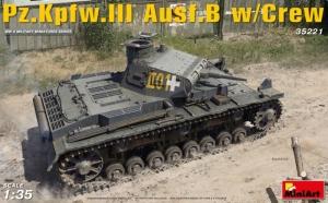 Model czołgu PzKpfw III wersja B z załogą MiniArt 35221