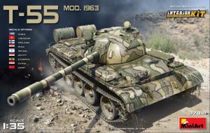 Model czołgu T-55 mod. 1963 z wnętrzem MiniArrt 37018