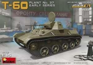 Model czołgu T-60 z wnętrzem MiniArt 35224 skala 1:35