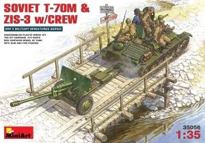 Model czołgu T-70 z działem ZiS3 i załogą Miniart 35056
