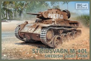 Model czołgu lekkiego Stidsvagn M/40L IBG 72036