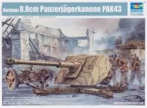 Model działa 88mm Panzerjagerkanone PAK43 Trumpeter 02308