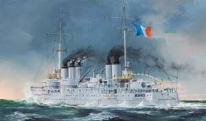 Model francuskiego pancernika Pre-Dreadnought Battleship Condorcet Hobby Boss 86505