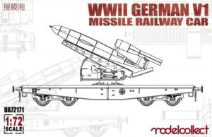Model kolejowej platformy z wyrzutnia V1 ModelCollect 72171