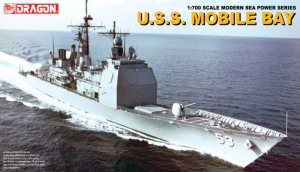 Model krążownika rakietowego U.S.S. Mobile Bay Dragon 7035