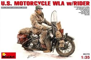 Model motor Harley-Davidson WLA z kierowcą MiniArt 35172