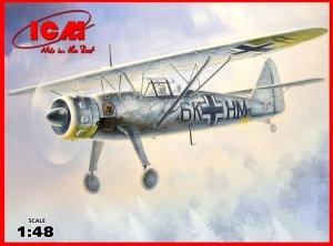 Model niemieckiego samolotu Henschel HS-126 B-1 ICM 48212
