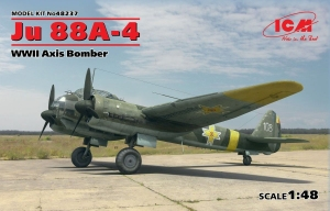 Model niemieckiego bombowca Junkers Ju 88A-4 ICM 48237