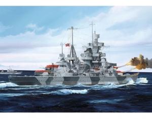 Model niemieckiego ciężkiego krążownika Admiral Hipper 1941 Trumpeter 05776
