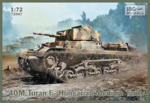 Model węgierskiego czołgu średniego 40M Turan I IBG 72047