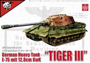 Modelcollect UA35012 Czołg Tiger III E-75 z 12.8cm L/55 model 1-35
