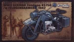 Motocykl niemieckiej żandarmerii Zundapp KS 750 GreatWallHobby 3524