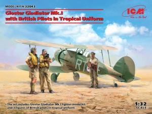 Myśliwiec Gloster Gladiator Mk.I model ICM 32043