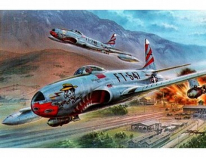 Myśliwiec Lockheed F-80C Shooting Star Over Korea model Special Hobby 32048