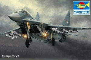 Myśliwiec Mig 29A Fulcrum - Izdeliye 9.12 - Trumpeter 01674