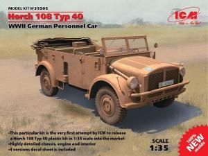 Niemiecki pojazd Horch 108 typ 40 model ICM 35505