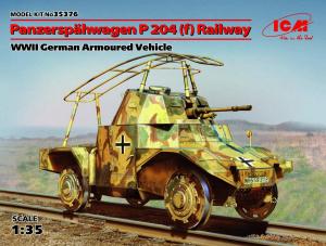 Niemiecki pojazd Panzerspahwagen P 204 model ICM 35376