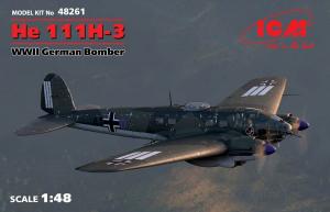 Niemiecki bombowiec Heinkel He-111 H-3 model ICM 48261