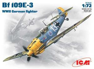 Niemiecki myśliwiec Messerschmitt BF109E-3 ICM 72131