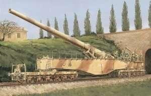 Niemieckie działo kolejowe 28cm K5(E) Leopold Dragon 6200