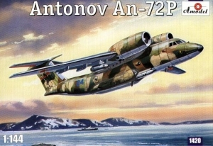 Odrzutowy samolot transportowy Antonov AN-72P Amodel 1420