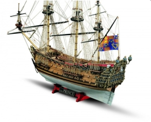 Okręt HMS Prince Mamoli MV80 drewniany model 1-144