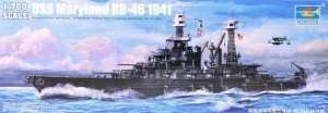 Pancernik USS Maryland (BB-46) 1941 1:700 Trumpeter 05769