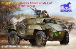 Pojazd opancerzony Humber Scout Car Mk. I w/twin k-gun Bronco 35016