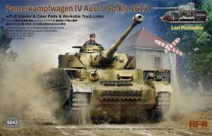 RFM 5043 Czołg Panzerkampfwagen IV Ausf.J z wnętrzem model 1-35