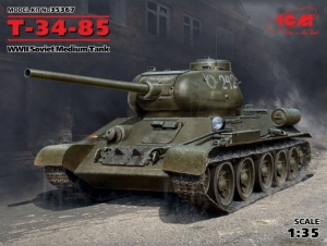 Radziecki czołg średni T-34/85 ICM 35367 skala 1-35