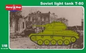 Radziecki czołg lekki T-80 1:48 Mikromir 48009