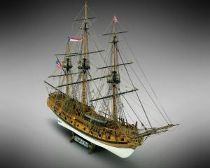 Rattlesnake Mamoli MV36 drewniany model okrętu w skali 1-64