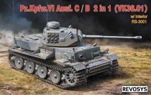 Revosys RS-3001 Czołg Pz.Kpfw. VI Ausf.C/B 2w1 VK36.01 z wnętrzem