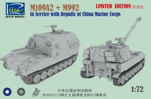 Riich 72002S M109A2 oraz M992 skala 1-72 limitowana edycja
