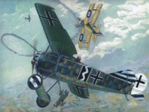 Roden 004 Samolot Fokker E.V/D.VIII Flying Razor polska kalkomania
