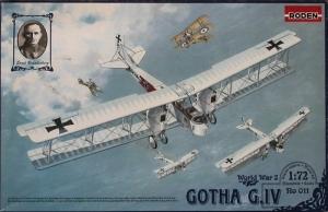 Roden 011 Samolot Gotha G.IV WWI skala 1-72