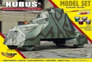 Samochód pancerny Kubuś zestaw z farbami i klejem 835091
