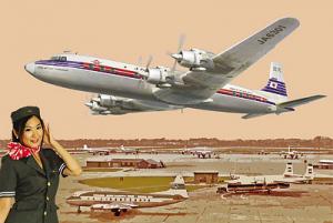 Samolot pasażerski Douglas DC-7C model Roden 303