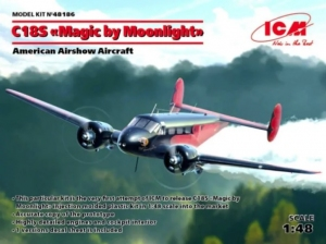 Samolot Beech C18S Magic by Moonlight Airshow Aircraft ICM 48186