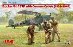 Samolot Bucker Bu 131D z kadetami 1939-1945 model ICM 32034