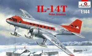 Samolot Iłłuszyn IL-14T wersja polarna Amodel 1481